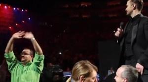 Justin Timberlake frena un show por una propuesta de matrimonio (Video)