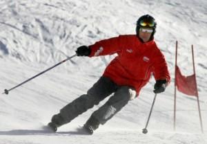Schumacher esquiaba a una velocidad normal