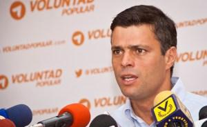 Leopoldo López: La intención del Gobierno es asfixiar los movimientos populares