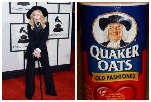 Compara look de Madonna en los Grammy con el hombre de la avena Quaker (Foto)