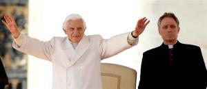 Benedicto XVI contento por la victoria de Alemania