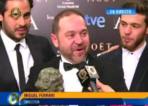 Director Ferrari: Este Goya va dedicado a toda Venezuela