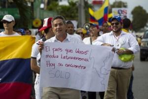 Así protestaron los venezolanos en República Dominicana (Fotos)