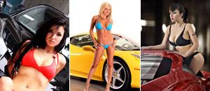 Nenas y naves presenta: Trío de modelos y la Ferrari 458 Italia