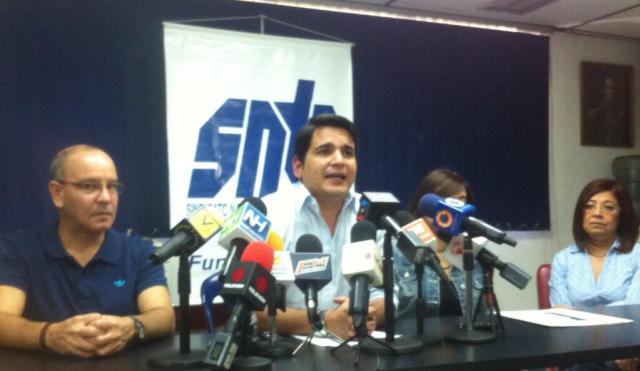 Marco Ruiz, secretario del SNTP. Foto: @sntpvenezuela