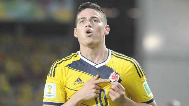 James Rodríguez festeja el gol anotado