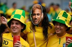 Miles de 'Neymares' en la semifinal del Mundial para apoyar a Brasil (Fotos)