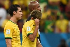 Así fue la cara de derrotados que tenían los jugadores brasileños (Fotos)