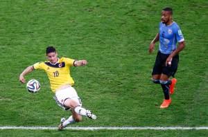 El gol de James Rodríguez a Uruguay, el mejor del Mundial