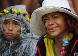 ¿Río de Janeiro?… no, Río de Lágrimas: Lloran los verdeamarelos (FOTOS)