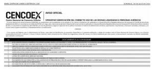 Personas Jurídicas que deben verificar el uso correcto de divisas (Lista)