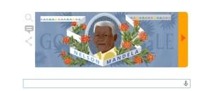 Google le dedica un 'doodle' a Mandela