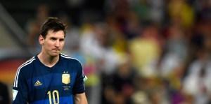 La cara de Messi es todo un poema tras haber perdido ante Alemania (Fotos)