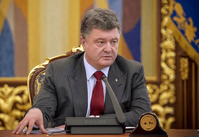 Presindete de Ucrania Poroshenko