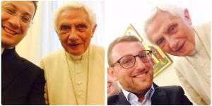 Las selfies del papa emérito Benedicto XVI (Fotos)