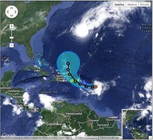 """Huracán """"Gonzalo"""" se dirige hacia Atlántico norte con vientos de 175 km hora"""