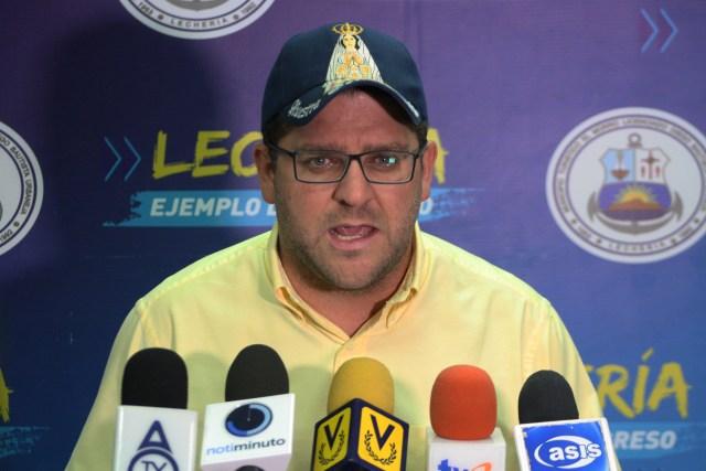 El alcalde de Lecherías, Gustavo Marcano (Cortesía)