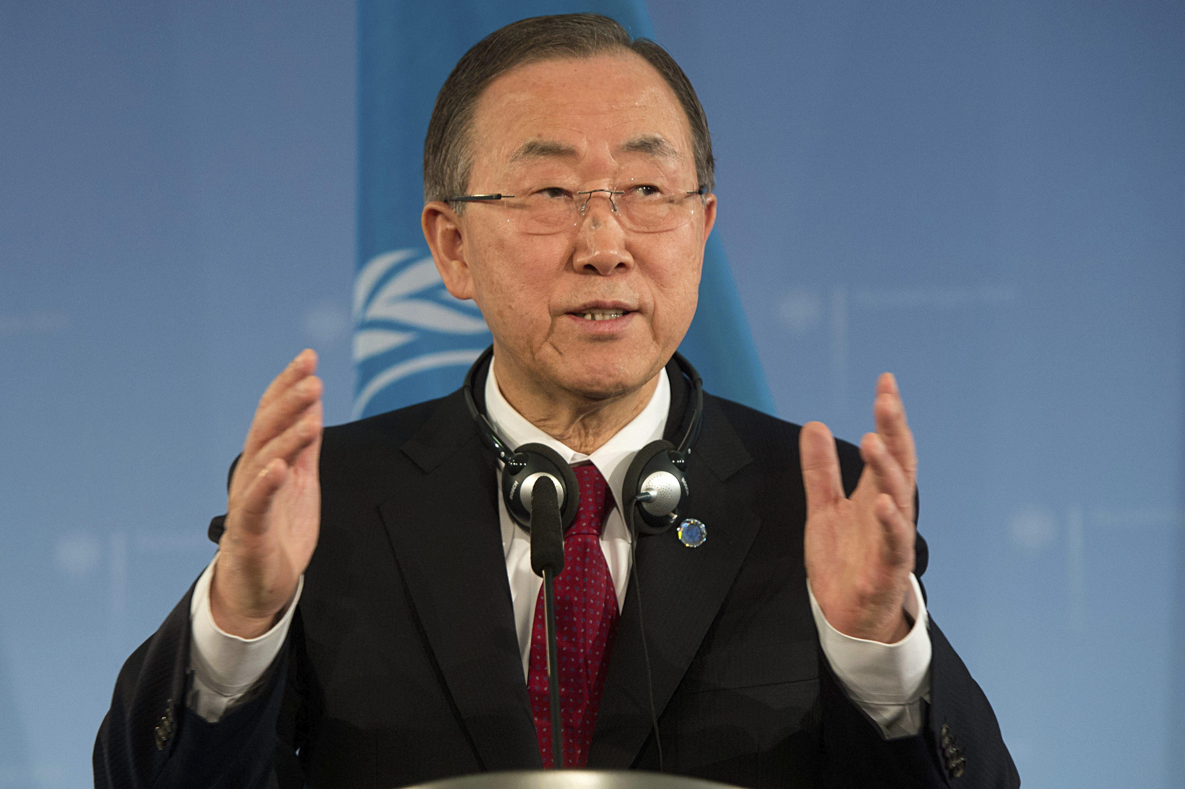 Ban Ki-moon se pronuncia ante matanza en Oregón