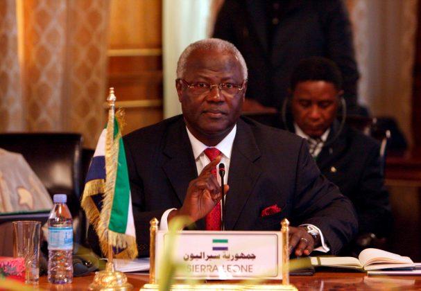 Foto: El presidente de Sierra Leona, Ernest Bai Koroma / EFE