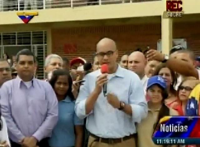 Héctor Rodríguez, mnistro para la Educación, desde el Estado Sucre / Foto VTV