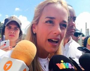 Lilian Tintori pidió la renuncia de Maduro