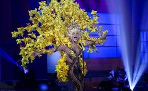 Migbelis Castellanos ovacionada en desfile preliminar de Miss Universo