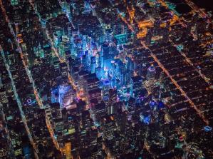 Nueva York, más impresionante: así se ve desde un helicóptero, a 2.200 m de altura