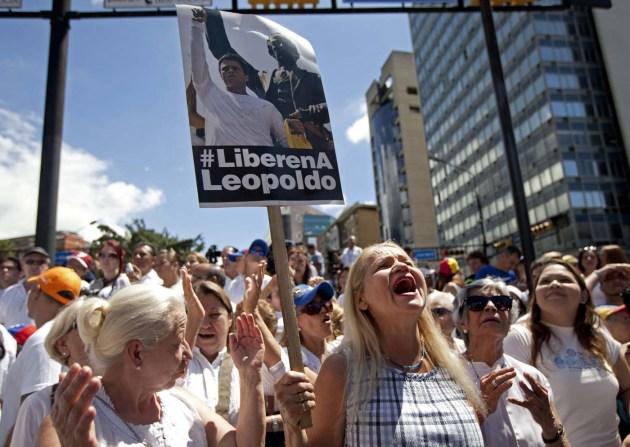 VENEZUELA-LEOPOLDO LOPEZ PROTESTA