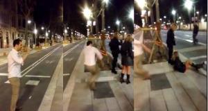 España conmocionada por agresión contra una mujer en plena calle (Video)