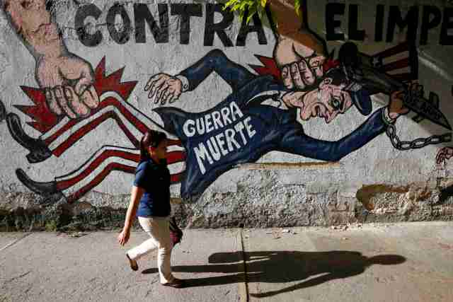 Un mural en Caracas pintado durante la administración Obama (Foto archivo Reuters)