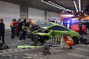 Un Ferrari y un Lamborghini se estrellaron al imitar a Rápidos y furiosos (Fotos)