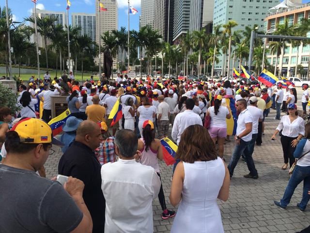 Imagen de archivo de venezolanos en Miami