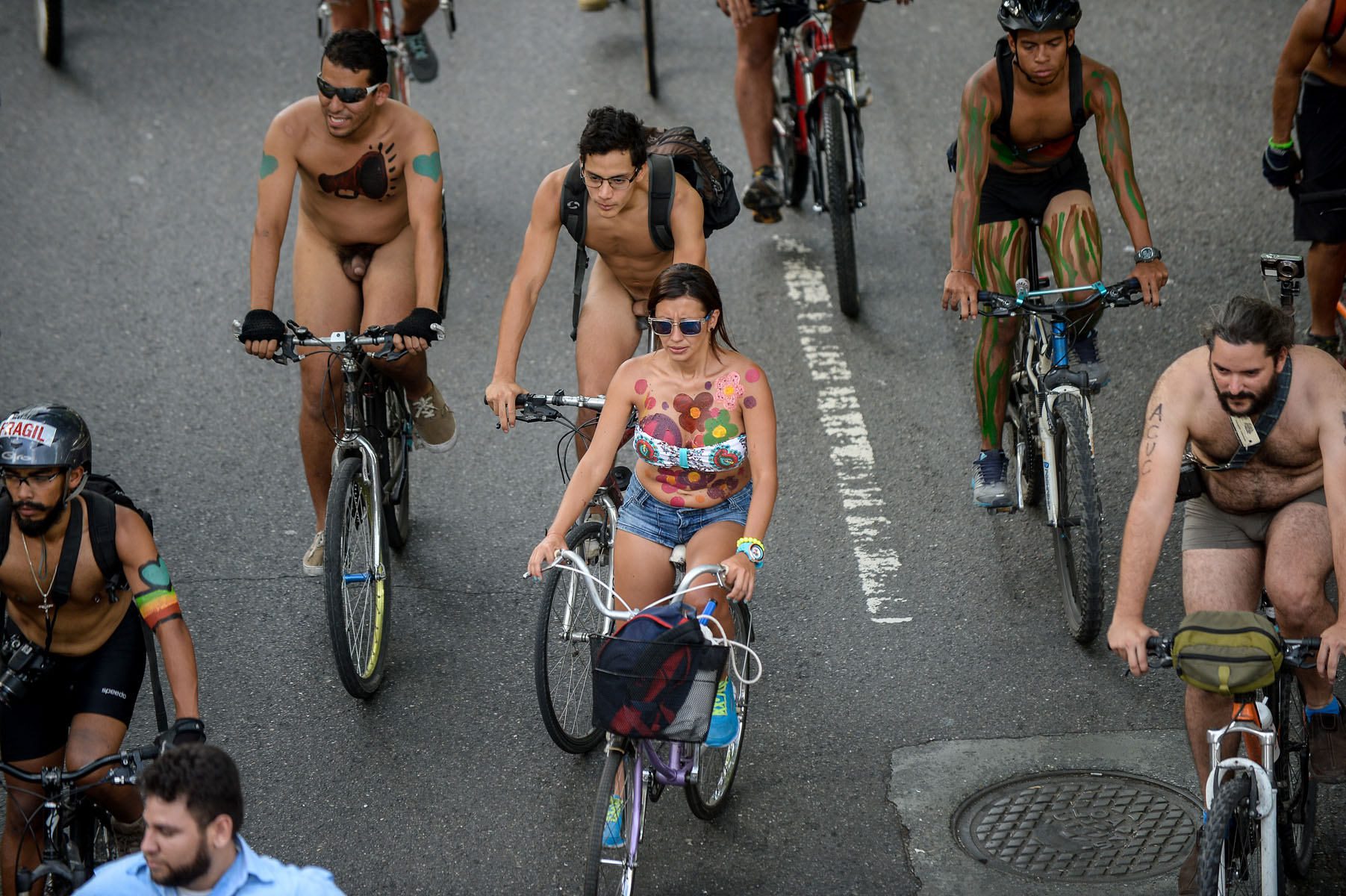 Cyclists bare for fourth annual cardiff world naked bike ride