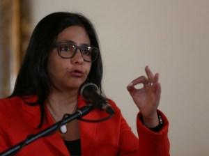 Delcy Rodríguez rechazó declaraciones de EEUU sobre exfiscal Nieves