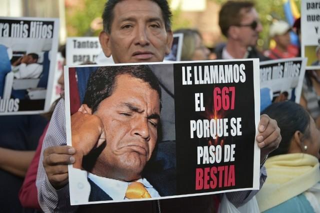 ECUADOR-OPPOSITION-PROTEST