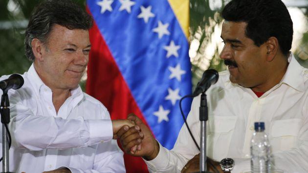 Otos Tiempos. Reunión entre Juan Manuel Santos y Nicolás Maduro en Puerto Ayacucho el 22 de julio de 2013 / Reuters