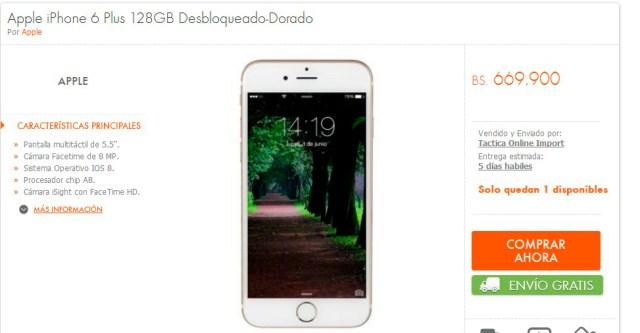 iPhone6PRecio