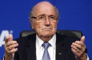 Blatter llegó a Rusia para ver el Mundial