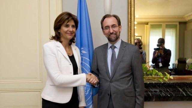 Holguín se reunió con Zeid Ra'ad Zeid Al Hussein (foto cancillería de Colombia)