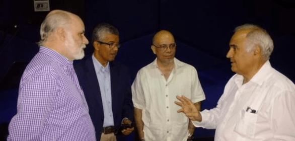 Foto: Tinedo Guía, Luis Barragán, Néstor Garrido y Sergio Urdaneta, en la sede nacional del CNP / nota de prensa