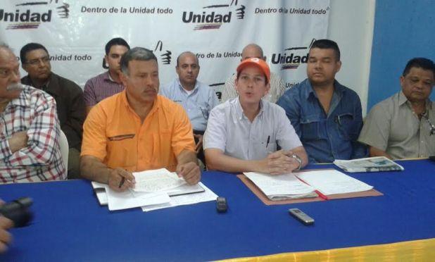 Integrantes del frente para la defensa del voto en el municipio Caroní en el estado Bolívar