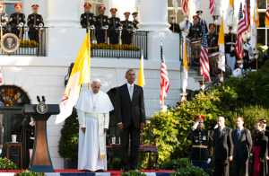 Papa Francisco inicia en la Casa Blanca su gira por EEUU