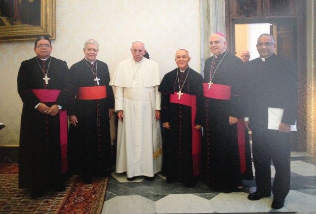 Directiva de la CEV junto al Papa Francisco