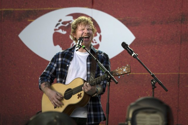 Singer Ed Sheeran performs on stage during the Global Citizen Festival in Central Park in New York, September 26, 2015. REUTERS/John Taggart