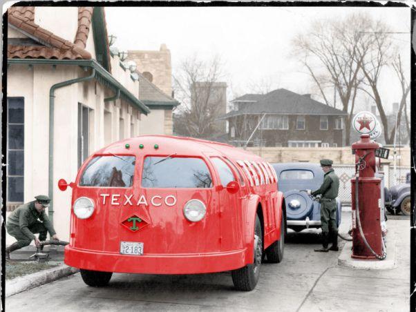 Foto: El estilizado camión Texaco tanker truck, 1935  / gizmodo.com