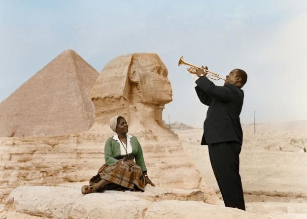 Foto: Louis y Lucille Armstrong, Cairo, 1961  / gizmodo.com