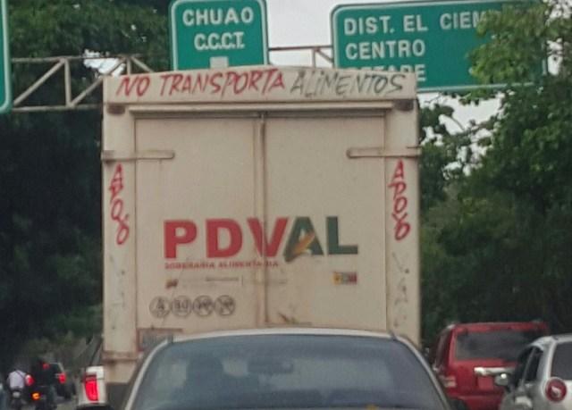 Transporte de Pdvalen Caracas el 02 de noviembre de 2015   lapatilla.com