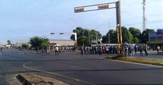 protesta en puerto ordaz