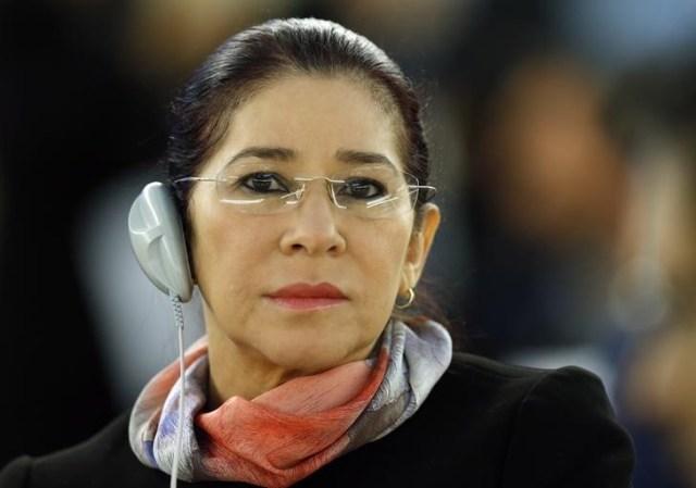 Cilia Flores, la esposa del presidente venezolano Nicolás Maduro, en la sesión extraordinaria del Consejo de Derechos Humanos de Naciones Unidas en Ginebra