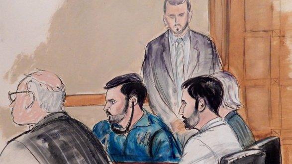 Los sobrinos de Nicolás Maduro, Francisco Flores de Fleitas y Efraín Campo Flores escuchan las acusaciones por narcotráfico en un tribunal de Nueva York. / Associated Press